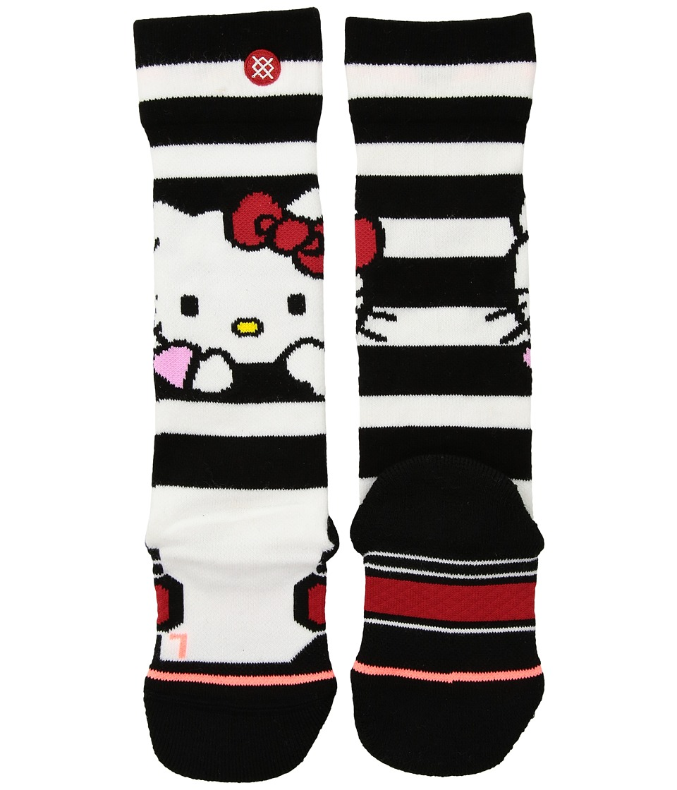 Stance - Hello (Toddler/Little Kid/Big Kid) (White) Women's Crew Cut Socks Shoes