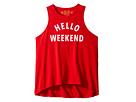 The Original Retro Brand Kids - Hello Weekend White Print (Big Kids)