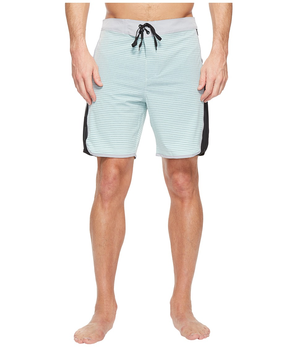 Hurley Phantom Motion Stripe 19 Boardshorts (Mint Foam) Men