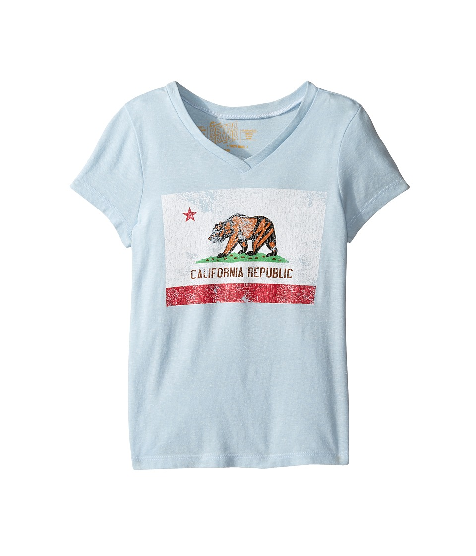 The Original Retro Brand Kids - California Flag Short Sleeve V-Neck Tri-Blend Tee