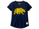 The Original Retro Brand Kids - Cal Bear Short Sleeve Crew Tee (Big Kids)