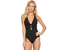 Tommy Bahama - Pearl Solids Lace-Up Halter One-Piece