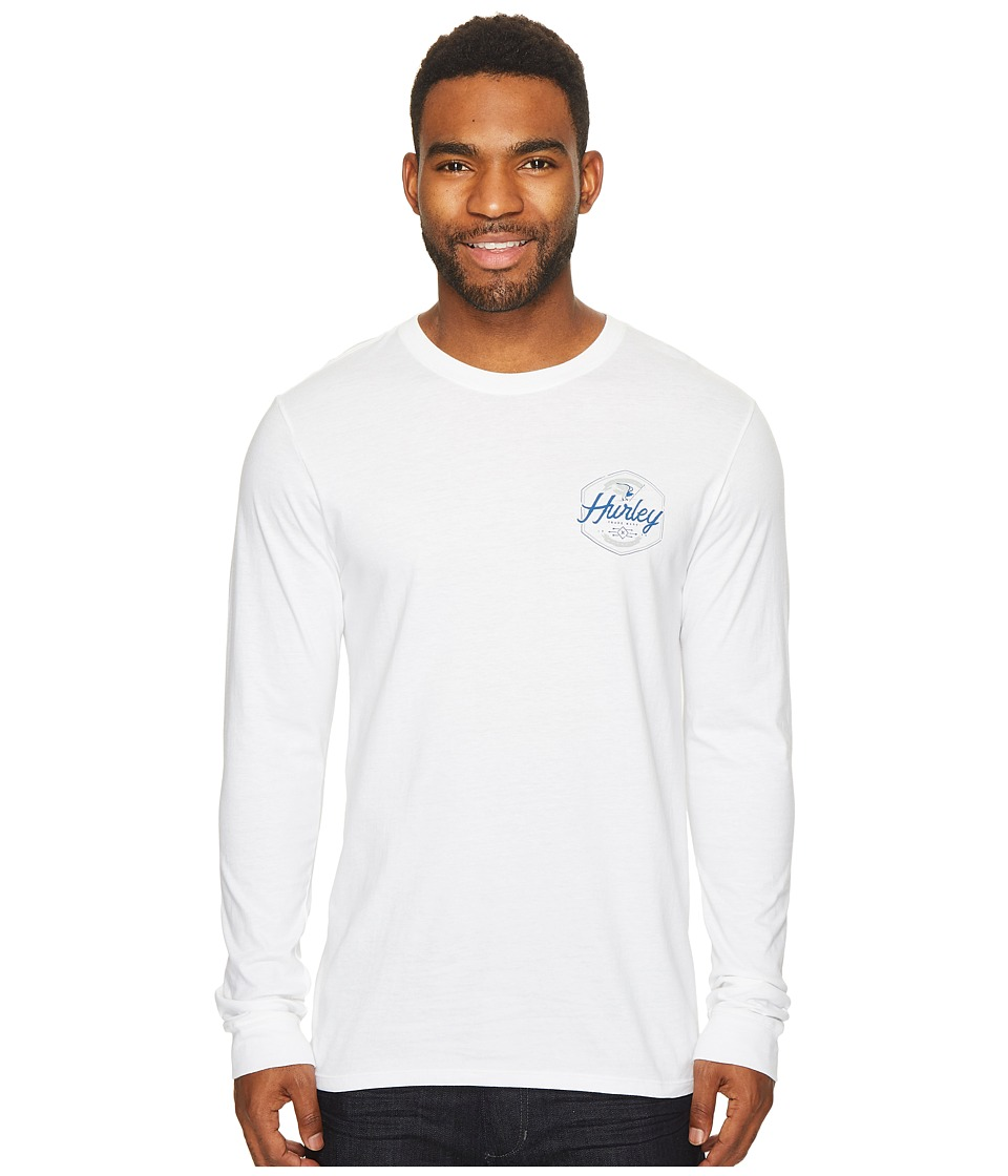 Hurley Time Time Again Long Sleeve T-Shirt (White) Men