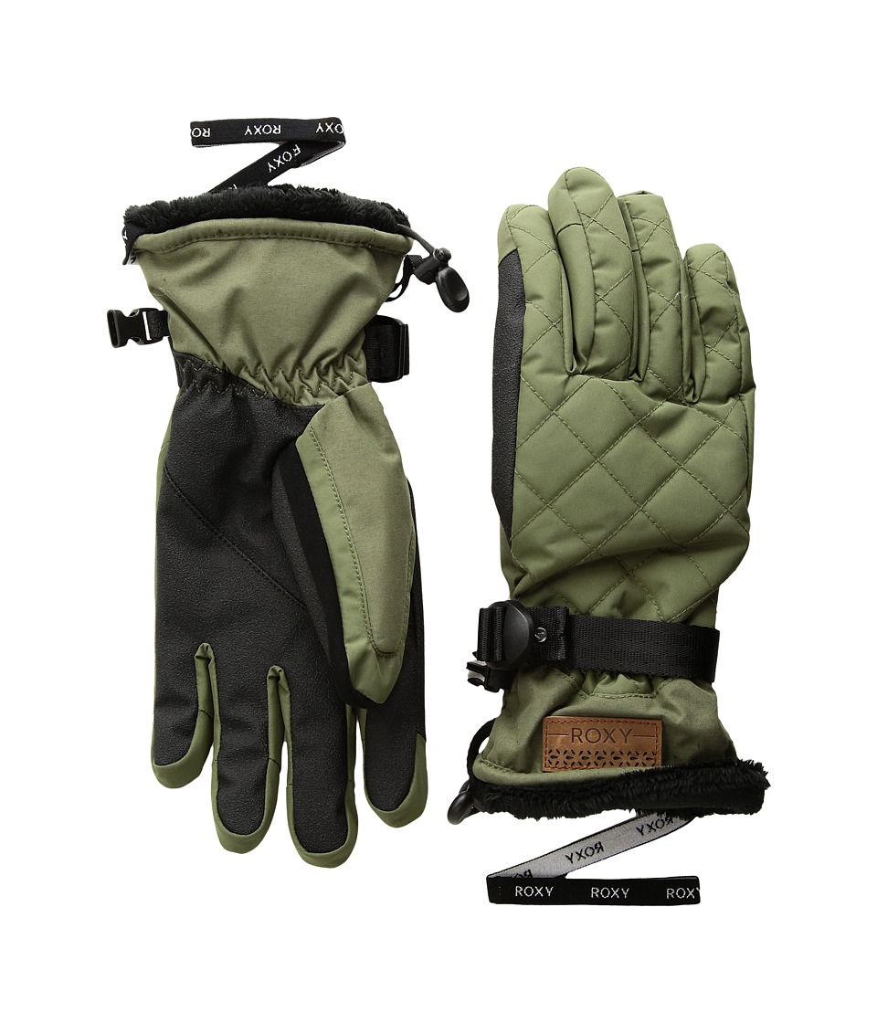 Roxy Merry Go Round Gloves (Dust Ivy) Extreme Cold Weather Gloves
