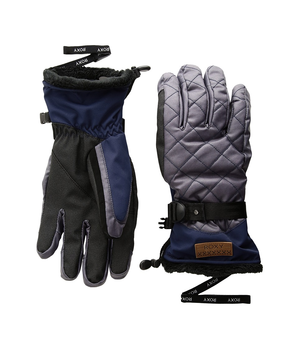 Roxy Merry Go Round Gloves (Peacoat) Extreme Cold Weather Gloves