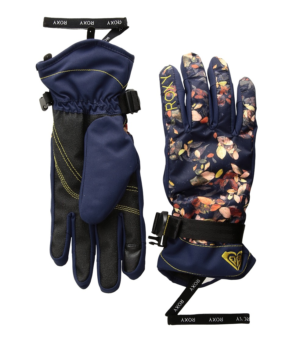Roxy Roxy Jetty Gloves (Peacoat/Waterleaf) Extreme Cold Weather Gloves