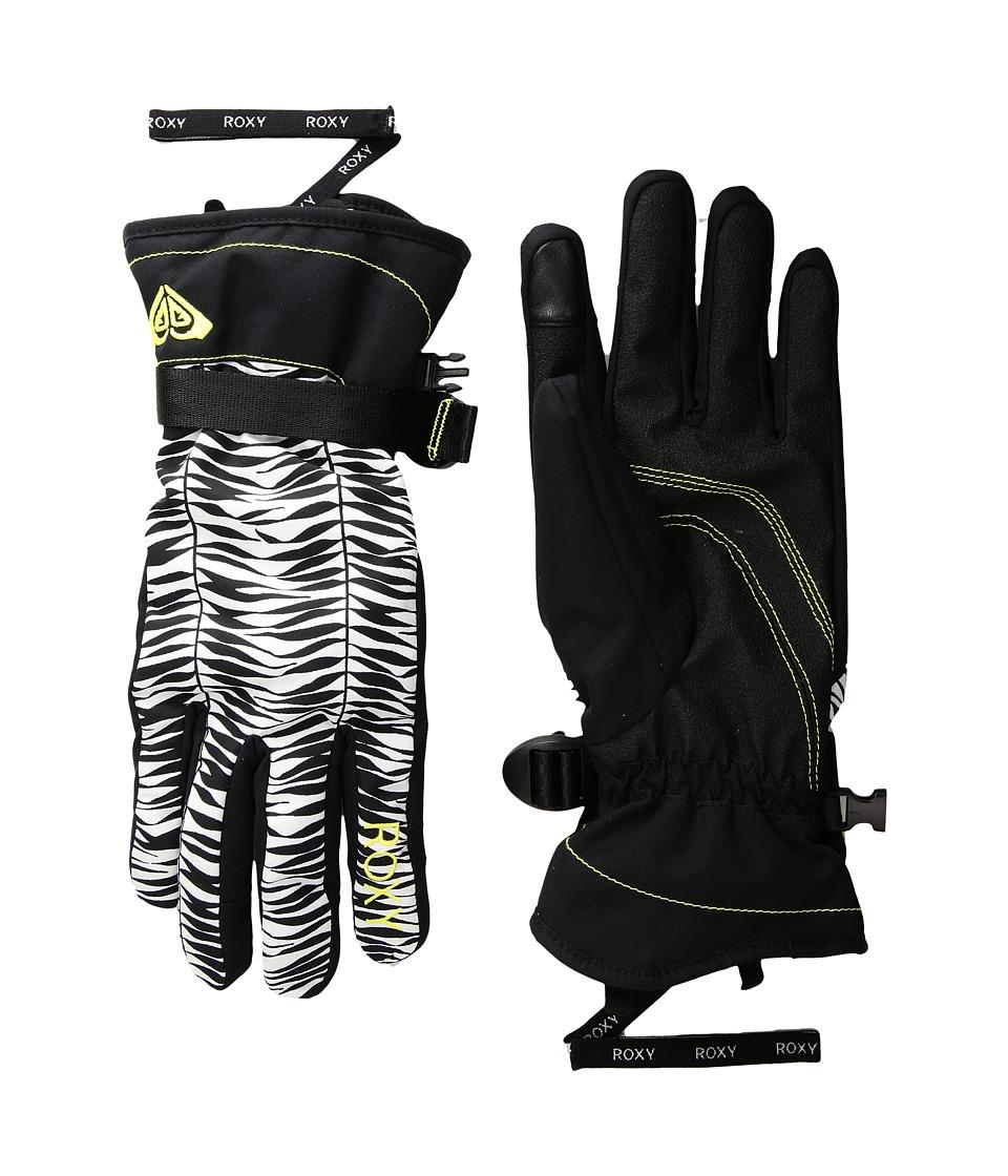 Roxy Roxy Jetty Gloves (True Black/Savanna) Extreme Cold Weather Gloves