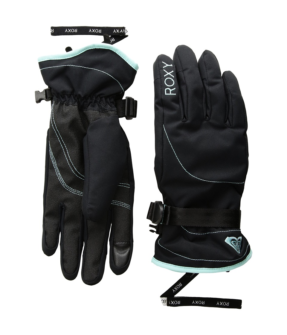 Roxy Roxy Jetty Solid Gloves (True Black) Extreme Cold Weather Gloves