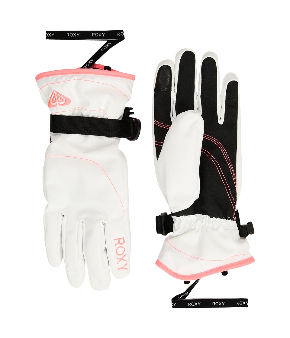 Roxy Roxy Jetty Solid Gloves (Bright White) Extreme Cold Weather Gloves