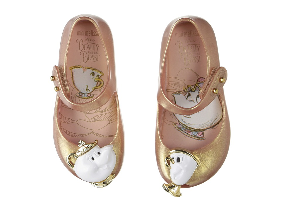 Mini Melissa - Mini Ultragirl Beauty and The Beast (Toddler/Little Kid) (Metallic Pink) Girls Shoes