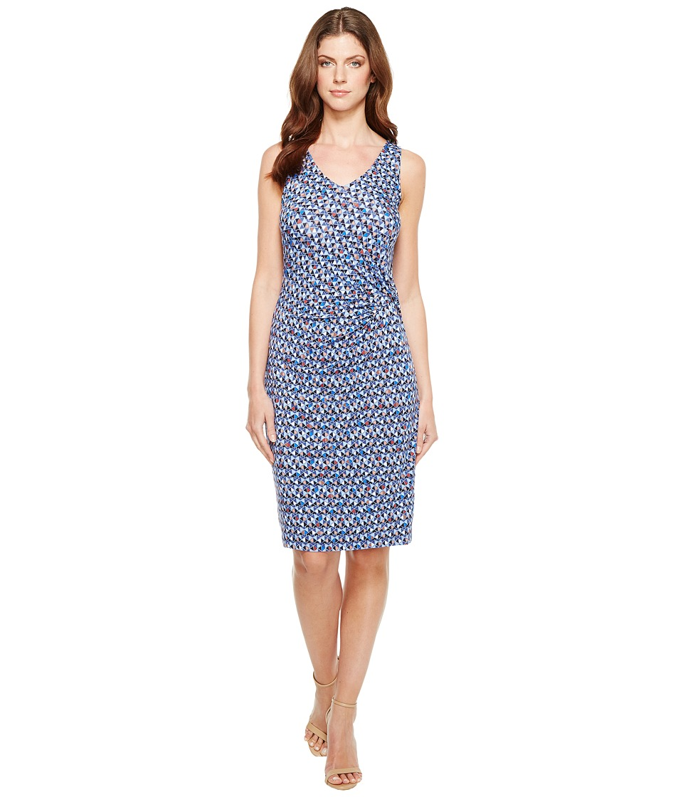 NIC+ZOE Triangle Tiles Dress (Multi) Women