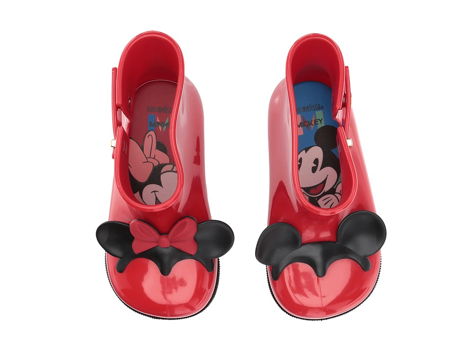Mini Melissa Mini Sugar Rain + Disney Twins (Toddler/Little Kid) (Bordeaux) Girl's Shoes