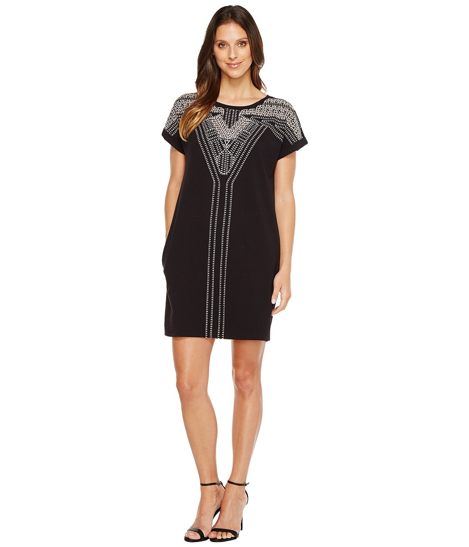 NIC+ZOE Havana Nights Dress (Black Onyx) Women
