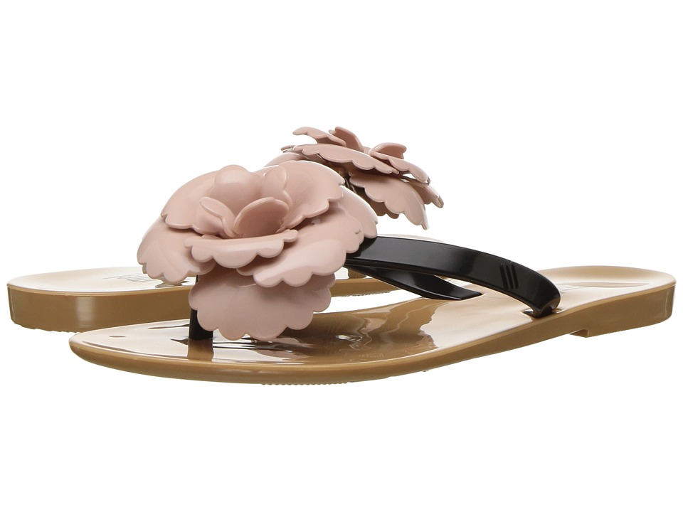 Mini Melissa Mel Harmonic Flower (Little Kid) (Nude/Black/Pink) Girl's Shoes