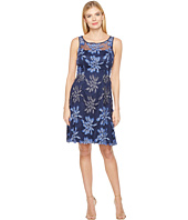 Adrianna Papell - Sleeveless Fit and Flare Dress with Flowers
