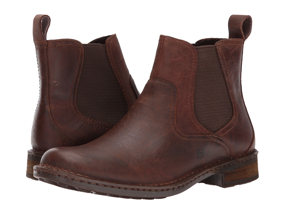Born - Hemlock (Brown Full Grain) Mens Pull-on Boots