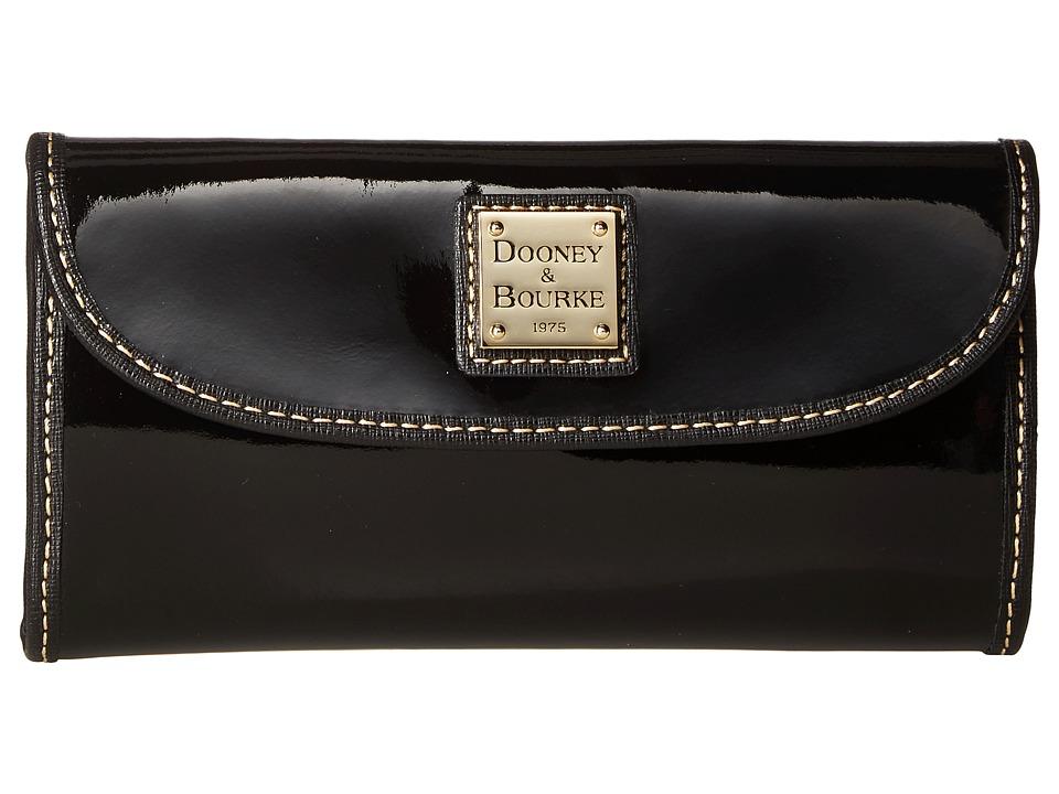 Dooney & Bourke Patterson Continental Clutch (Black w/ Black Trim) Clutch Handbags
