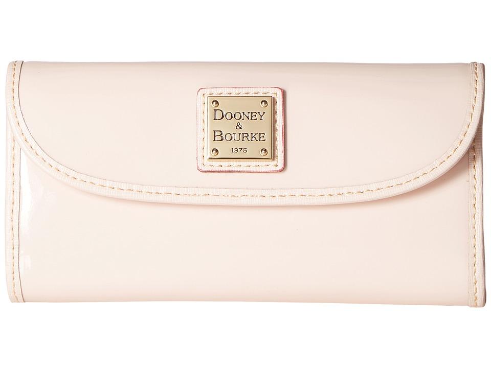 Dooney & Bourke Patterson Continental Clutch (Blush w/ Blush Trim) Clutch Handbags