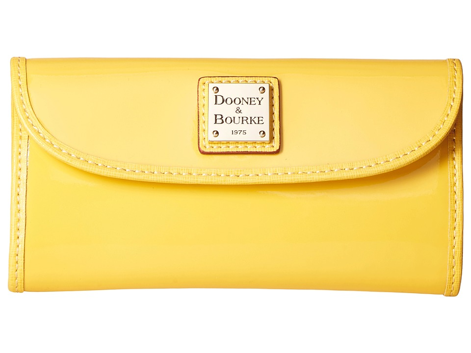 Dooney & Bourke Patterson Continental Clutch (Dandelion w/ Black Trim) Clutch Handbags