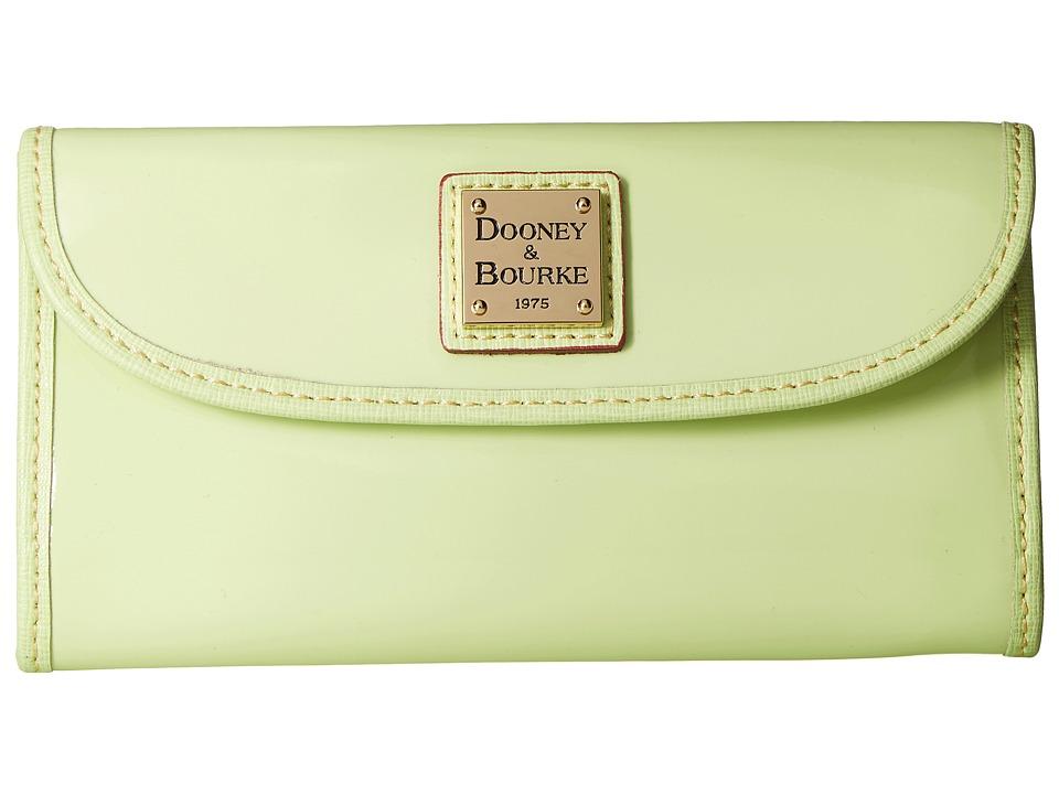 Dooney & Bourke Patterson Continental Clutch (Key Lime w/ Key Lime Trim) Clutch Handbags