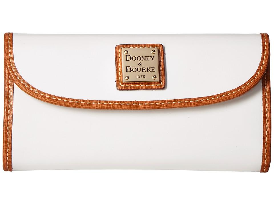 Dooney & Bourke Patterson Continental Clutch (White w/ Natural Trim) Clutch Handbags