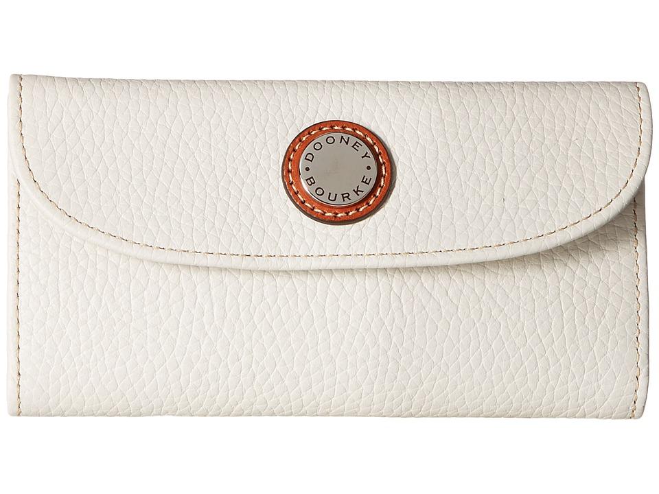 Dooney & Bourke Cambridge Continental Clutch (Bone w/ Tan Trim) Clutch Handbags