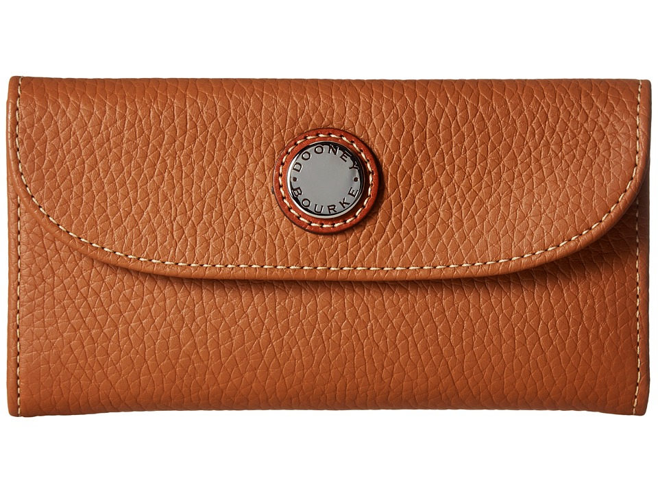 Dooney & Bourke Cambridge Continental Clutch (Desert w/ Tan Trim) Clutch Handbags