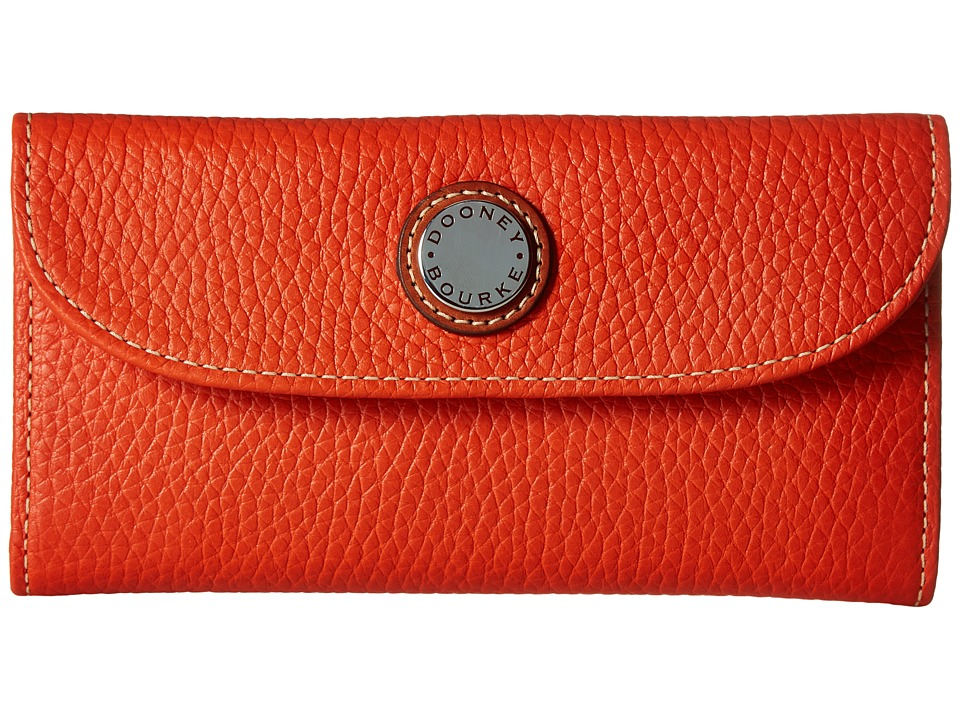 Dooney & Bourke Cambridge Continental Clutch (Persimmon w/ Tan Trim) Clutch Handbags