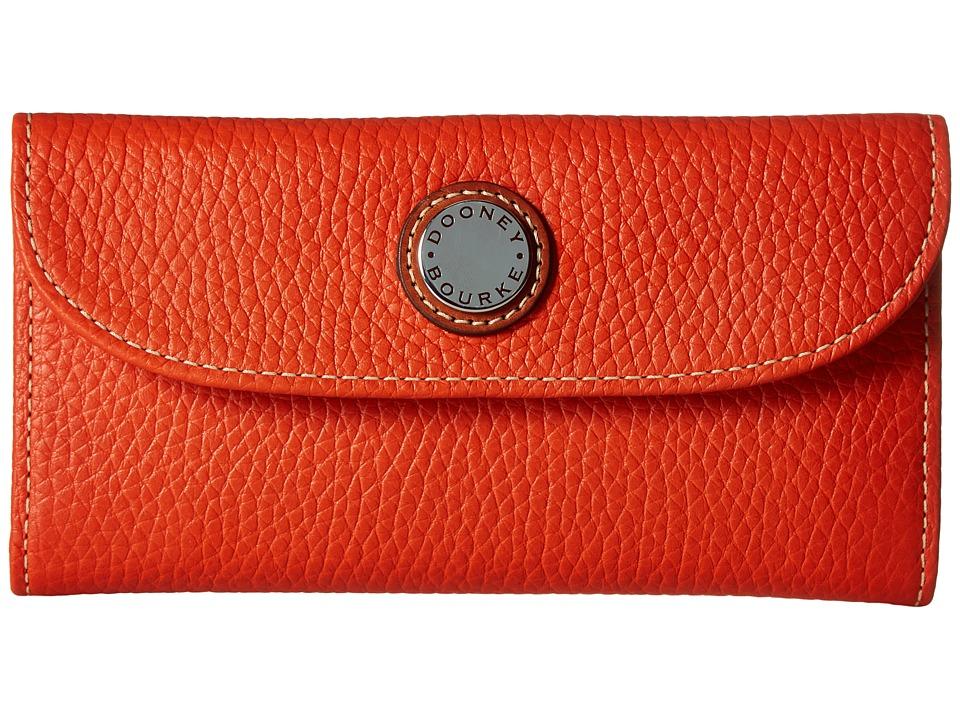 Dooney & Bourke Cambridge Continental Clutch (Persimmon w/ Tan Trim) Clutch Handbags