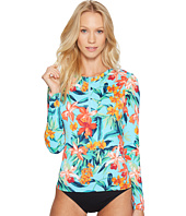 Tommy Bahama - Floriana Long-Sleeve Half-Zip Rash Guard