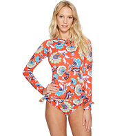 Tommy Bahama - Fira Floral Long-Sleeve Half-Zip Rash Guard