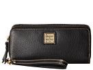 Dooney & Bourke Pebble Double Zip Wallet