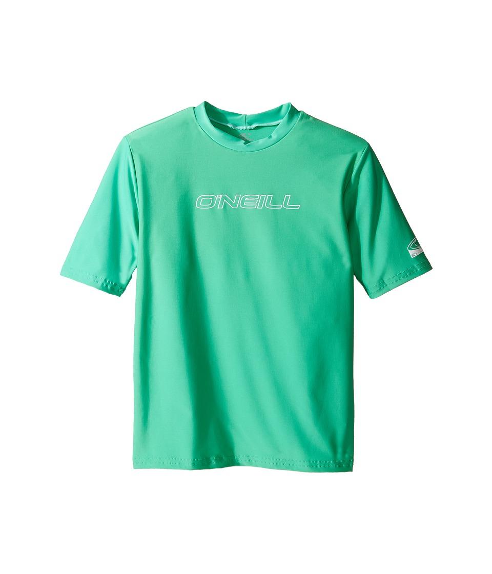 ONeill Kids - Basic Rash Tee (Little Kids/Big Kids) (Seaglass) Kids Swimwear