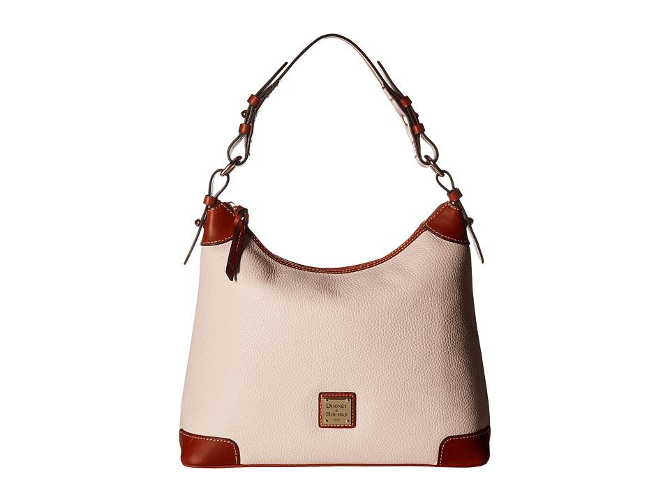 Dooney & Bourke - Pebble Leather Hobo (Blush w/ Tan Trim)...