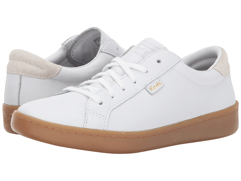 Keds Ace Leather (White/Gum) Women