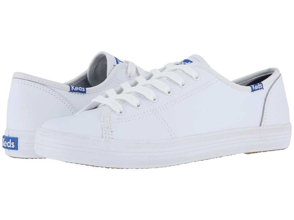 Keds Kickstart Leather (White/Blue) Women