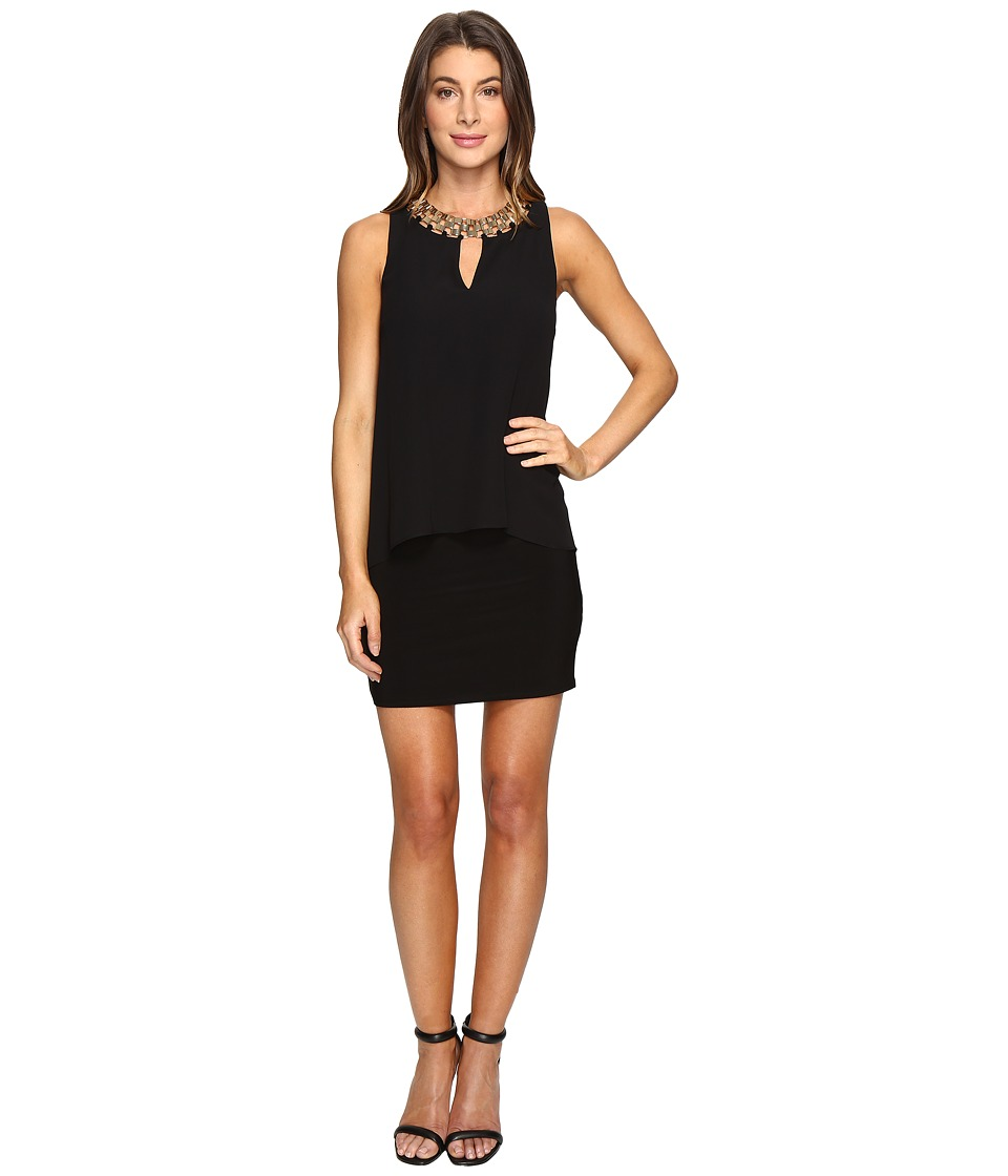 Laundry by Shelli Segal Matte Jersey Popover Cocktail Dress (Black) Women