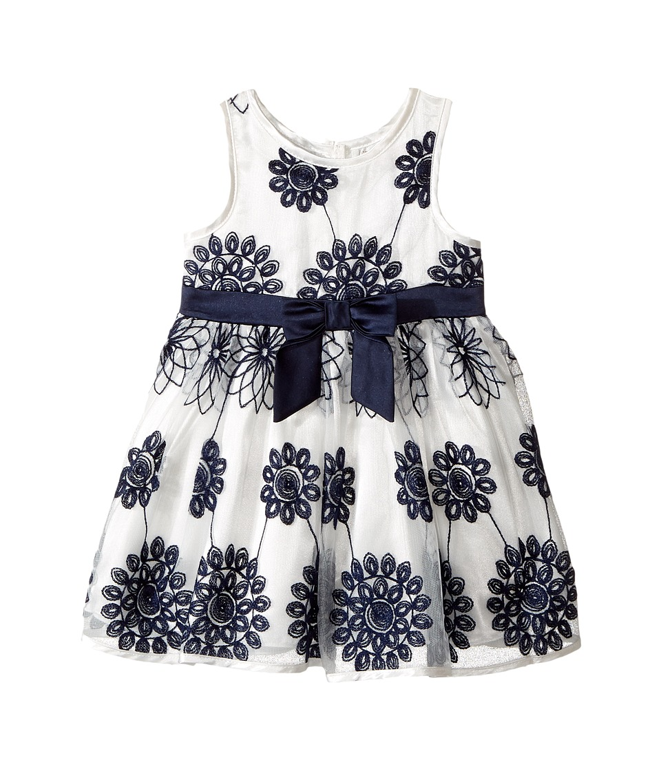 Nanette Lepore Kids - Embroidered Satin Floral Dress