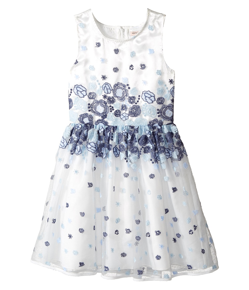 Nanette Lepore Kids - Embroidered Blue Floral Dress