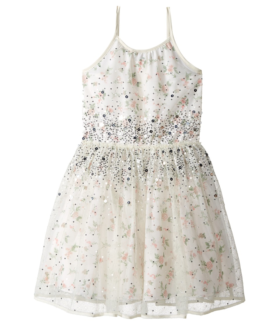 Nanette Lepore Kids - Printed Chiffon w/ Tulle Dress