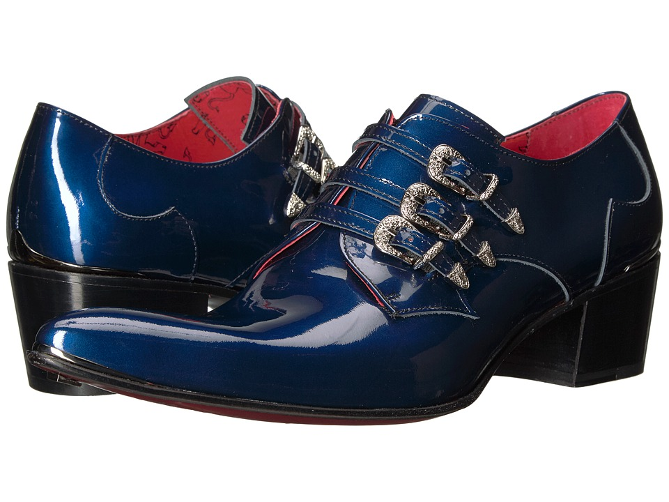 Jeffery-West - Triple Monk Gibson (Charcoal Metal/Blue) Mens Shoes