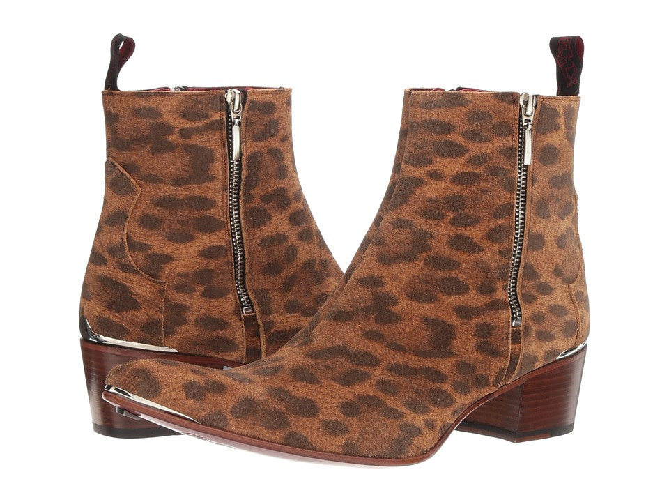 Jeffery-West - Sylvian Zip (Leopard) Mens Shoes