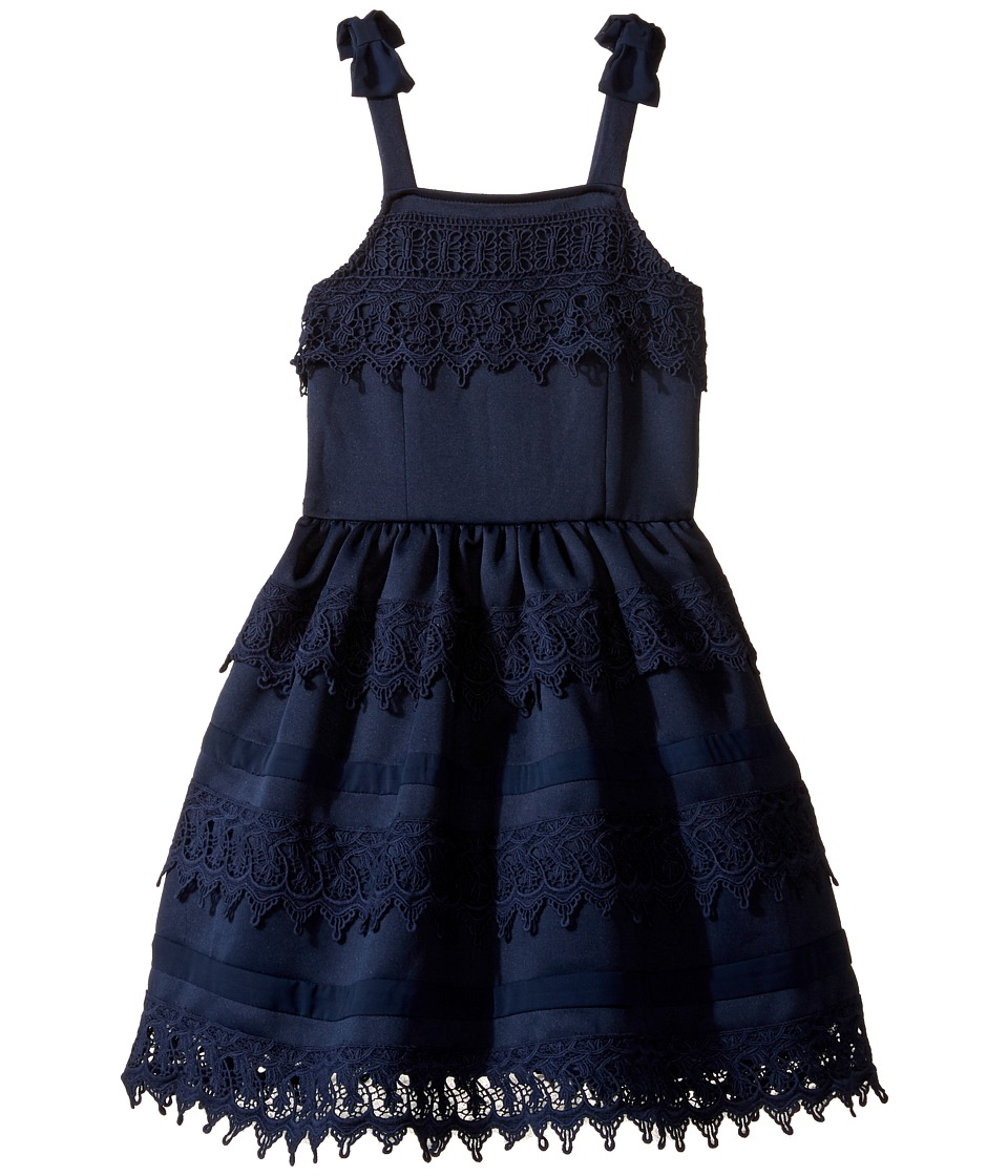 Nanette Lepore Kids - Ponte Dress with Crochet Trim