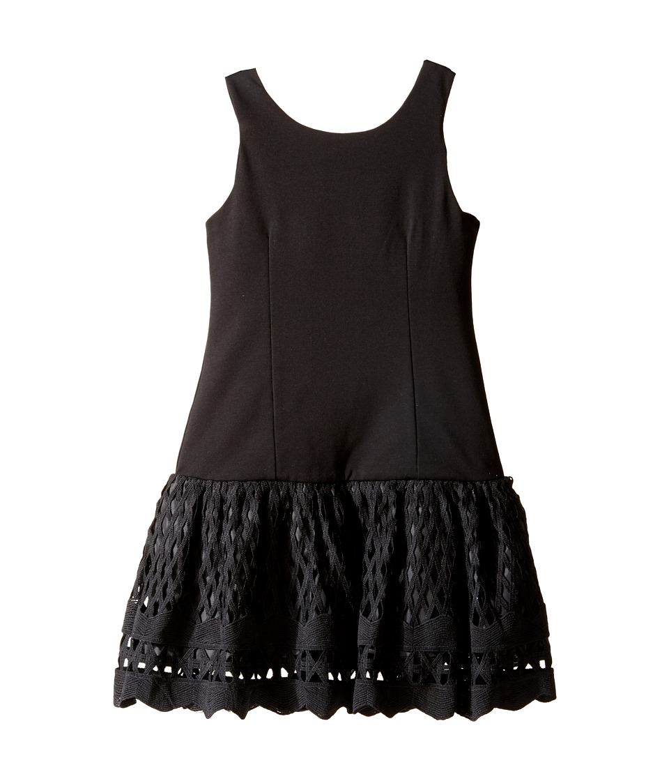 Nanette Lepore Kids - Ponte Novelty Lace Dress