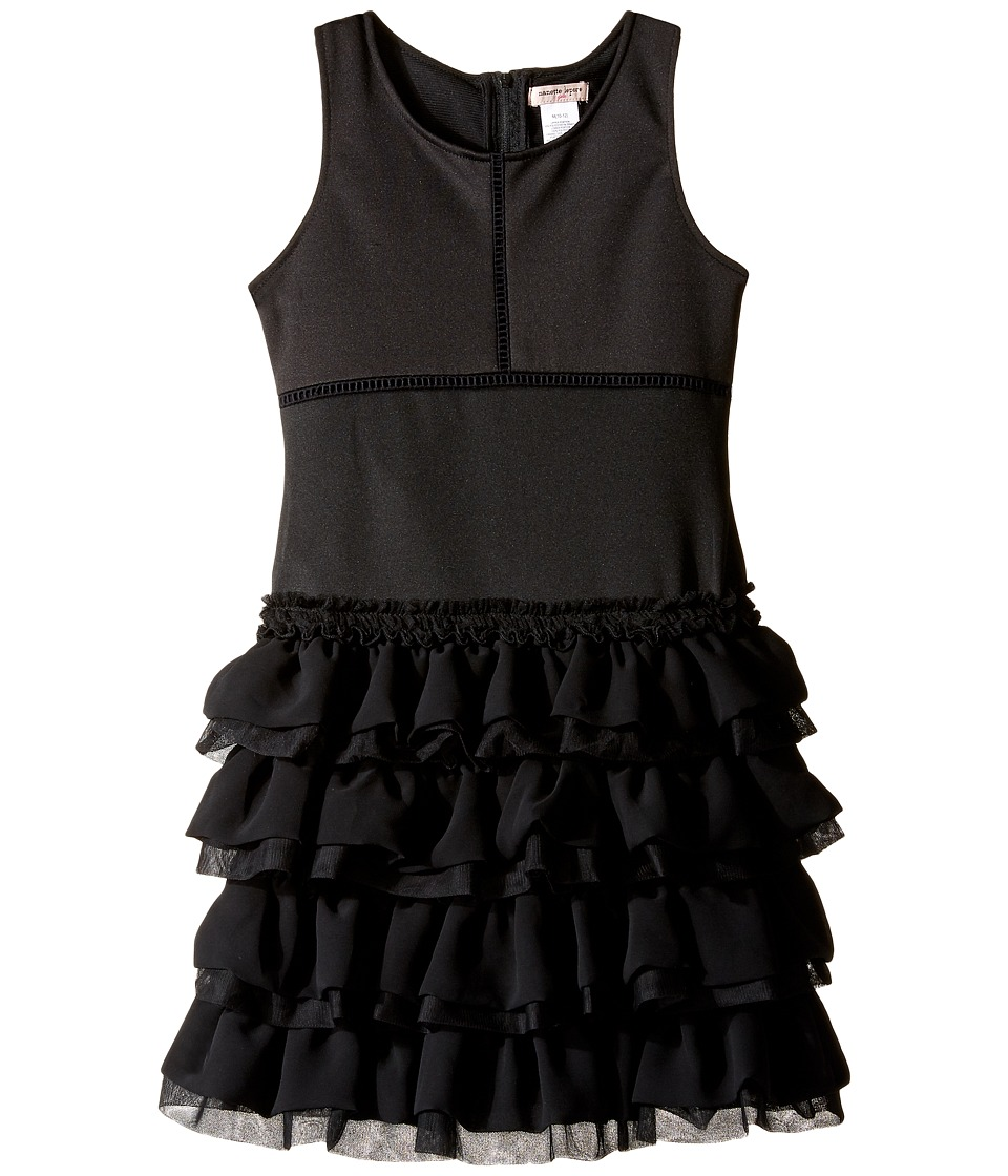 Nanette Lepore Kids - Ponte Dress with Chiffon Tulle