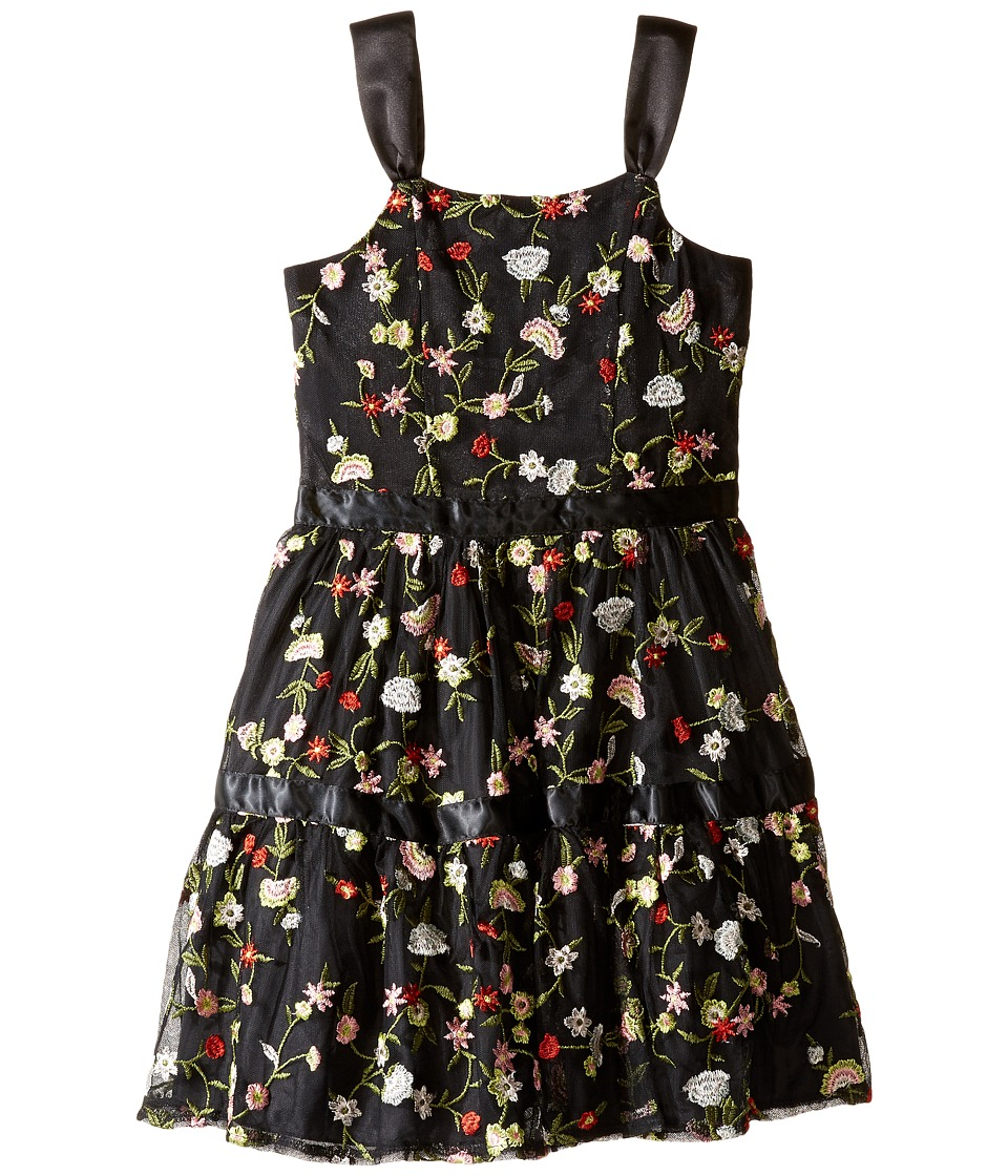 Nanette Lepore Kids - Embroidered Mesh Dress