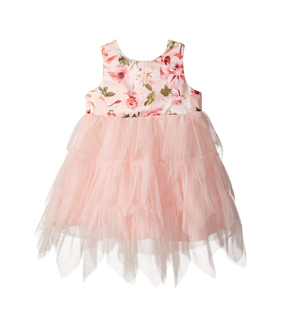 Nanette Lepore Kids - Matte Printed Satin with Tulle