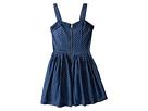 Nanette Lepore Kids - Polka Dot Denim Dress w/ Tulle (Little Kids/Big Kids)