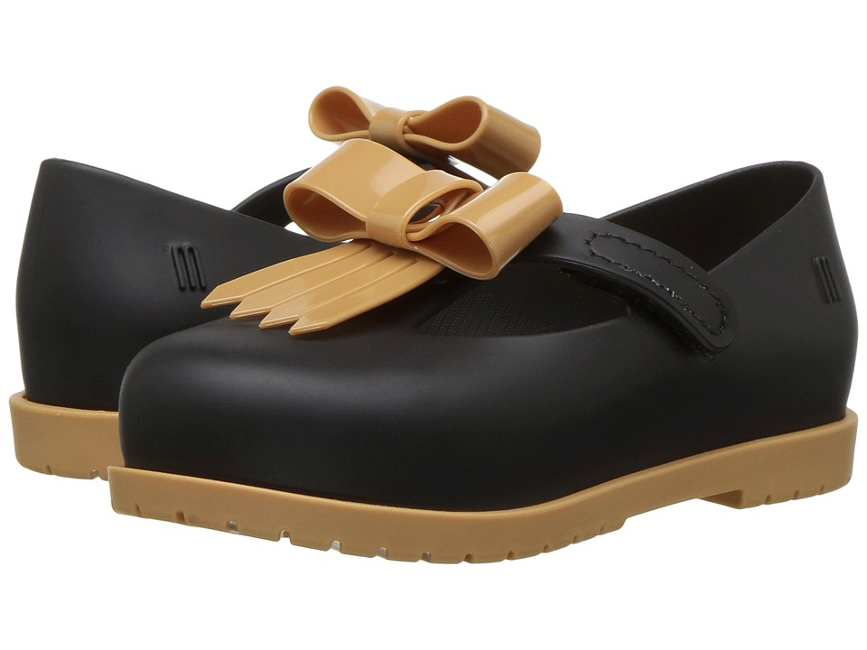 Mini Melissa Mini Classic Baby II (Toddler/Little Kid) (Black/Beige) Girl's Shoes