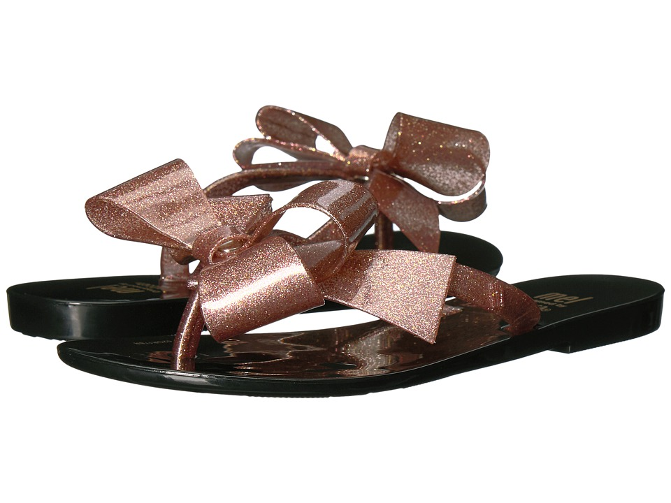 Mini Melissa Mel Harmonic Bow III (Little Kid) (Black/Brown) Girl's Shoes